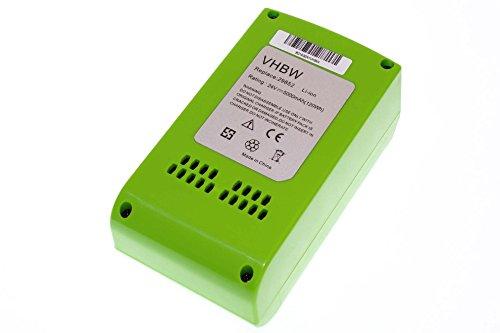 vhbw Li-Ion Akku 5000mAh (24V) für Elektro Werkzeug Greenworks 22-Inch Cordless Hedge Trimmer wie 29322, 29807. (Cordless Hedge-trimmer)