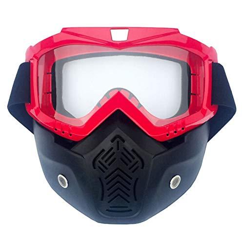 Bishilin Schneebrille Brillenträger Outdoor Brille Herren Sicherheitsbrille Für Brillenträger Schutzbrille Vertikal Rot Durchsichtig