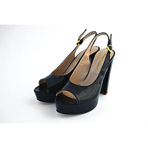 Scarpe sandali, decolte' Chiara Luciani con chiusura con cinturino nero, taglia: 40