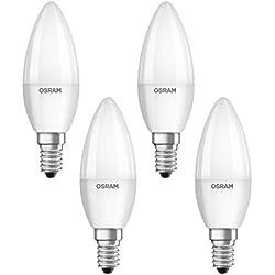 Osram 819610 Bombilla LED E14, 5 W, Blanco, 4 Unidades