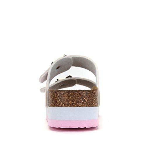 estate studente confortevole spessa pantofole/Colore cintura fibbia peep-toe scarpe B
