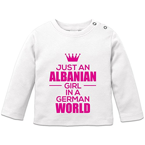 Just An Albanian Girl In A German World Baby Langarmshirt by Shirtcity