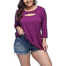 Lover-Beauty Camisa Mujer Talla Grande Plus Size Top Verano para Playa Fiesta Manga Larga