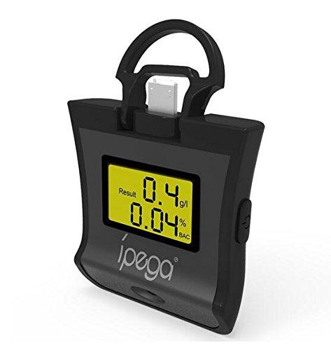 Detector de alcohol iPega PG-9070 2 en 1, colorido e inteligente, para smartphones Android, iOS con función OTG