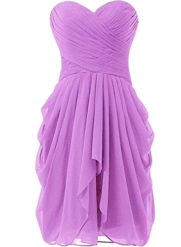 Azbro Women's Summer Wrap Ruffled Asymmetric Chiffon Dress Light Green