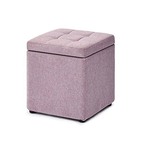 JDⓇ Gepolsterter Fußablage Hocker Wohnzimmer Sofa Dressing Ändern Schuhe Hocker Fußstütze Kleiner Stuhl/Sitz Hocker Lagerung Sitzsack Fußstütze (30cmX30cmX35cm) -