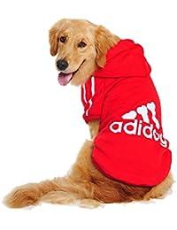 UUstar® Hundekleidung für kleine und große Hund (S bis 9XL) fünf Farben HundeHoddie (7XL, Rot)