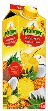 Kokos-saft (Pfanner Ananas-Kokos-Getränk, Tetra - 1L)