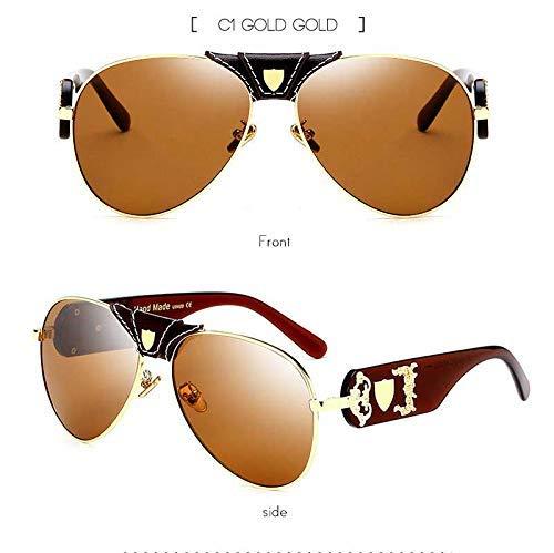 Klassische Pilot Sonnenbrille Frauen übergroßen weißen Gürtel Brille Retro Eyewear UV400