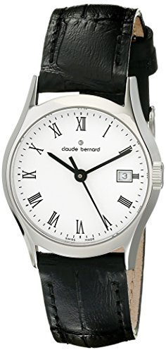 Claude Bernard Women's 54003 3 BR Classic Ladies Analog Display Swiss Quartz Black Watch