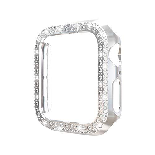 HSKB Watch Kratzfest Schutzhülle Schale Hülle Ultra-schlanke Doppelkristall für Apple für iwatch 4 44mm Watch Active TPU Gehäuse Vollschutz Displayschutz Protector Abdeckung Case (Silber)