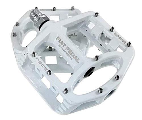 Evetin Ultra-Light Plattform Mountainbike/MTB/Flat Pedale, Magnesium Trekking Pedale Fahrrad mit Achsendurchmesser 9/16 Zoll für Universell BMX Mountain Bike Rennrad Trekkingrad 5051-1 (Weiß)
