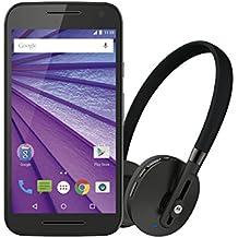 """Moto G 3rd Gen Music - Smartphone de 5"""" (memoria interna de 8 GB, 1 GB de RAM, cámara de 13 MP, Android, auriculares inalámbricos incluidos), color negro"""