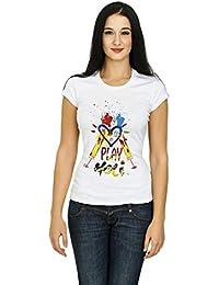 Demokrazy Girls Holi T-Shirt(Play Holi)