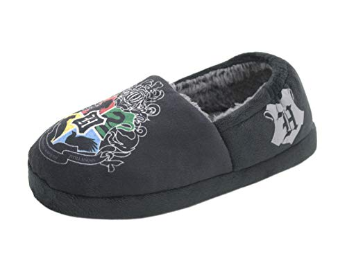 WILLIAM LAMB Childrens Harry Potter Hogwarts Crest Slippers