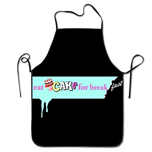 Apron Chef Kitchen Cooking Apron Bib Eat Cake For Breakfast Cool FRICSTAR