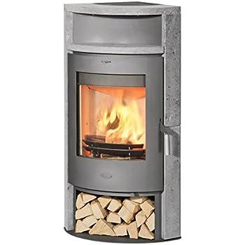 eckkaminofen kaminofen fireplace samba speckstein 6kw