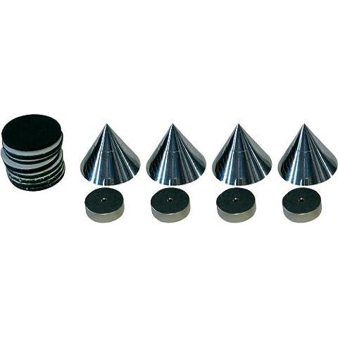 Dynavox Sub - Amortiguadores para altavoces (4 unidades), color negro
