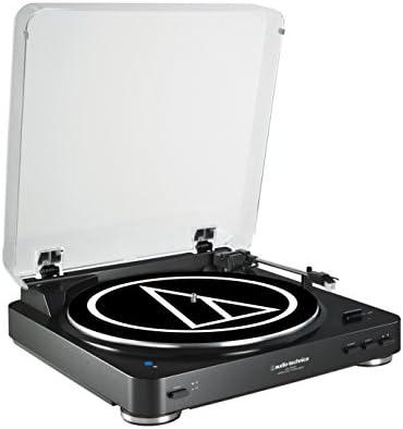 Audio-Technica AT-LP60BTBK - Tocadiscos (3 W, 120 V, 60 Hz, 50 dB, 3.5 mm, RCA), negro