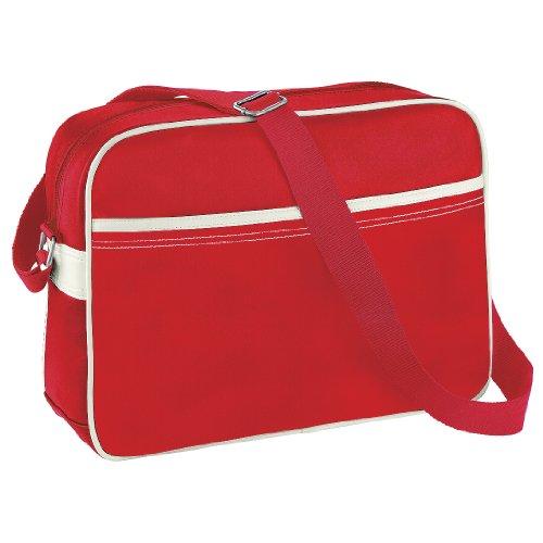 BagBase - Borsa a Tracolla (12 litri) Rosso/Bianco Naturale