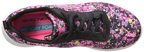 Skechers Sport Burst Illuminations Fashion Sneaker Black/Multi