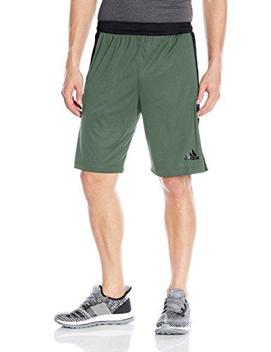 Adidas–Pantaloni da allenamento designed-2-move 3Stripe shorts Trace Green/Utility Black