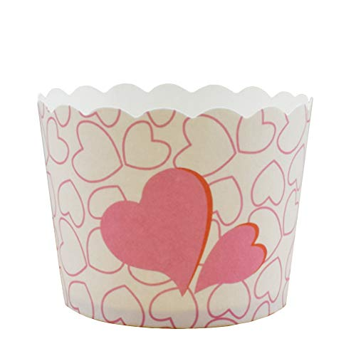 mchenMuffin Förmchen Papier Cupcake Wrappers Tasse Cupcake Fällen Liner Muffin Hohe Temperaturbeständige Backen Tassen Muffin Deko 24 Stück (Rosa) ()