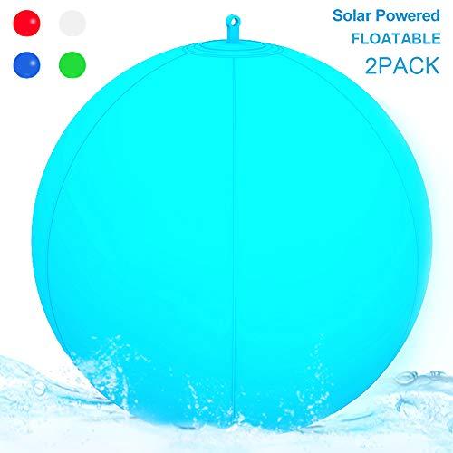 Paquete de 2 luces solares para piscina