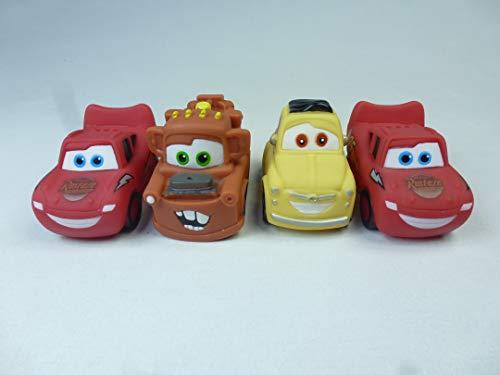 (6875) 4 Stück Wasserspritzautos Cars, bekannte Rennwagen aus dem Film, Wasserpistole, Watergun, Spritzautos