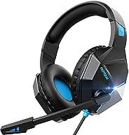 Mpow EG10 Cuffie Gaming per PS5 PS4, PC, Xbox One, Cuffie da Gaming con Microfono e Bass Stereo, Cuffie da Gio