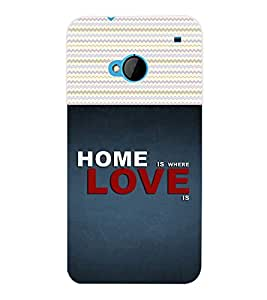 ColourCraft Quotes Back Case Cover for HTC ONE M7