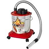 Ribitech - Aspirador de cenizas calientes (950W, capacidad 18L)