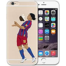Desconocido Funda iPhone 7 Plus, iPhone 8 Plus, Futbolista Ronaldinho Barcelona Barça TPU Gel