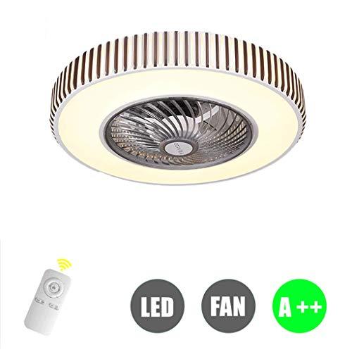 HYKISS Bluetooth App Fan Licht Deckenventilator Licht Restaurant Wohnzimmer Unsichtbare Stummschaltung Nach Hause Mit Elektrischem Ventilator LED Schlafzimmer Licht Einfache Deckenleuchte,B - Fan Restaurant