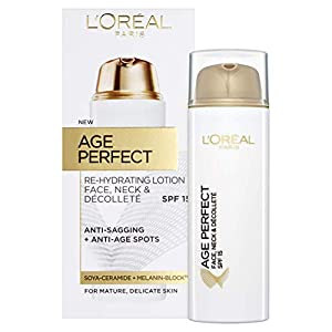 L 'Oreal Paris Age Perfect cara, cuello y escote Loción Spf15 50 ml