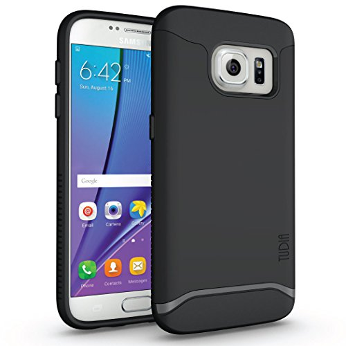 Galaxy S7 Case – TUDIA Slim-Fit MERGE Dual Layer Protective Case for Samsung Galaxy S7 (Matte Black)