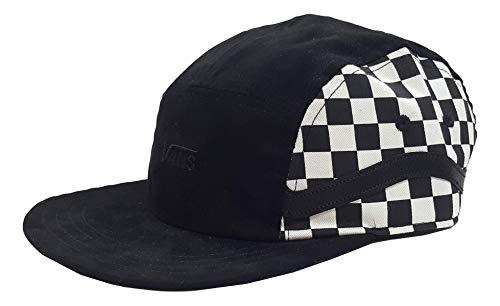 Vans Mens Sidestripe 5-P Hat Black/White One-Size VN0A3MYU705 (Tennis Futbol 5)