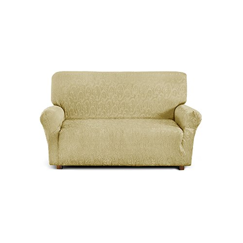 2-Seater Couch Cover Extendible from 110 to 150 cm in Stretch Fabric – Beige