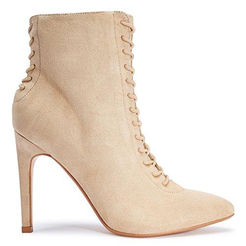 Shoesdays ,  Damen Durchgängies Plateau Sandalen mit Keilabsatz Stone