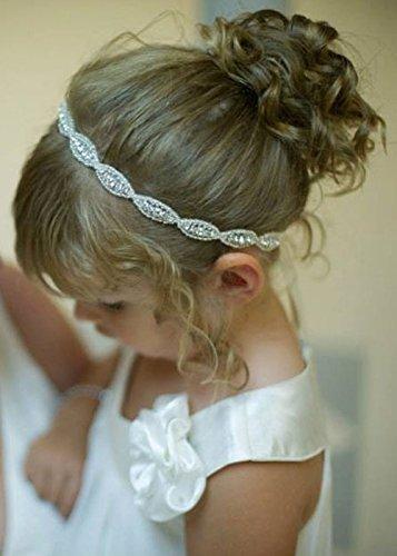 Handmadejewelrylady  Diadema de niña hecha a mano con flores diadema corona de boda de niña pequeña tiara tocado diadema con cristales