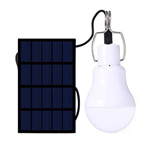 IVYSHION Campinglampe Solarleuchten Lampe LED Solar Glühbirne Solarlampen tragbare Lämpchen Licht Birne für außen Innen Garten Camping Wandern Lesen Zelt Angeln Beleuchtung (S-1200)