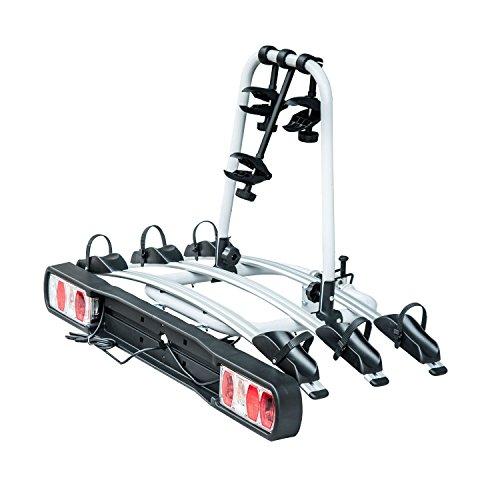 HOMCOM Anhängerkupplungsträger für 3 Fahrräder Fahrradträger Heckträger Auto Fahrradheckträger homcom