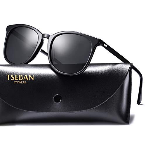 TSEBAN Polarizzate Occhiali da Sole da Donna Vintage Retro UV400 protezione Ideali per Sicuro Ideale per Esterno e Guida