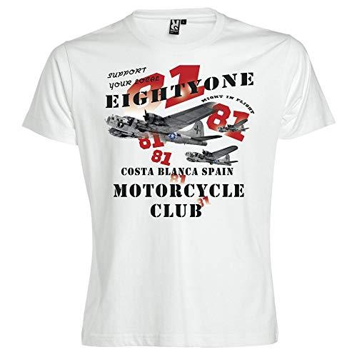 Hells Angels WorldWide Support Store / Big Red Machine World - Hells Angels  B-17 White T-Shirt Support 81 Big Red Machine, Weiß XXXXXXL