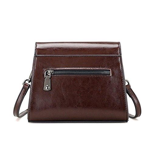 Damenmode Schultertasche Weiches Leder Große Messenger Bag Damen Urlaub Einkaufstaschen Weekend Satchel Brown