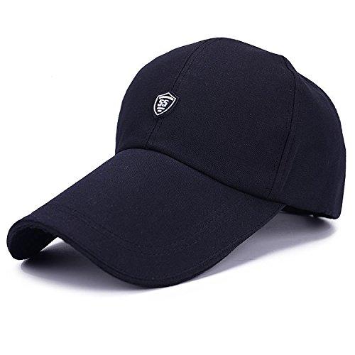 Honour fashion-Casquette de Golf Longues Visiere Pour l'été (Bleu Marine,TU)