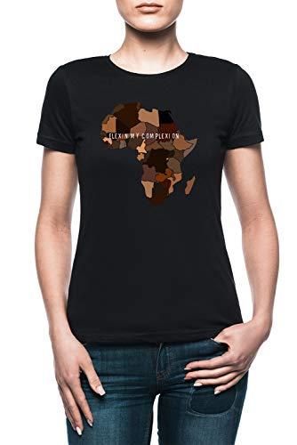 c6579905248b Jergley Flexin My Complexion Maglietta T-Shirt Nero Donna Dimensioni L