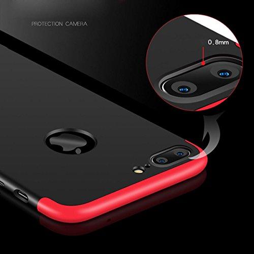"""iPhone 7 Plus/ iPhone 8 Plus Coque , SHANGRUN Ultra Léger Hybrid 3 en 1 Conception PC Matériel Protictive Couvercle housse Etui Protection Case pour iPhone 7 Plus 5.5""""/ iPhone 8 plus Bleu Rouge"""