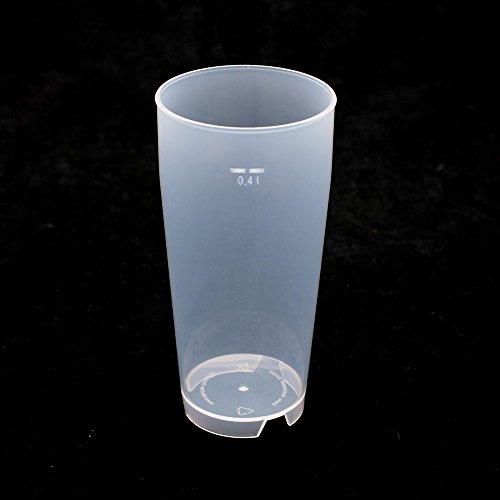 25 Stück 0,4L Mehrwegbecher PP transparent