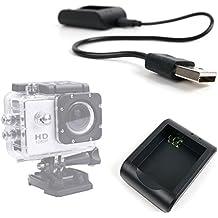 DURAGADGET Cargador De Batería Con Conexión USB Para Cámara Deportiva Qumox SJ5000 | SJ4000 (WIFI) | Tonbux | Neewer